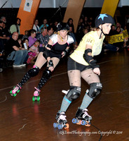 San Diego Starlettes vs. Tucson                                               Roller Derby Bout 2-5-11